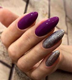 Purple Nail Art, Pink Ombre Nails, Long Nail Designs, Nail Art Designs, Stylish Nails, Trendy Nails, Magic Nails, Nail Design Video, Hot Nails