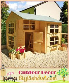 Buy Mad Dash Playhouses - Annex Log Cabin Wooden Playhouse from Garden Buildings Direct, compare prices and see related products at Grows on You Backyard Playhouse, Build A Playhouse, Backyard Fort, Cubby Houses, Play Houses, Tree Houses, Playhouses For Sale, Luxury Playhouses, Outdoor Playhouses