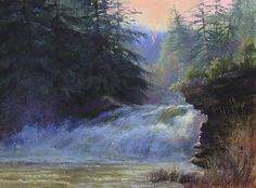 Overflow by Lisa Mitchell Pastel ~ 12 x 16. | See more of Lisa'a work at: http://www.southstreetartgallery.com/index.html and  http://lisamitchellstudio.com