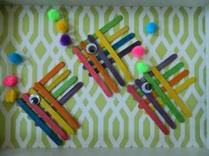 the vintage umbrella: Two more fish projects...Possible craft for a preschool bulletin board