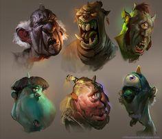 Ogre heads by MikeAzevedo on deviantART