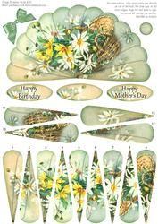 Basket Of Daisies - Fan Sheet