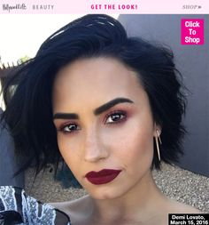 Demi Lovato may have just started a whole new trend by matching her burgundy eyeshadow to her lipstick. The bold combo looked gorgeous, and doesn't have to be expensive to recreate. Find out how to get Demi's burgundy makeup for under $10!