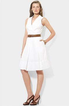 Fit & flare cotton dress