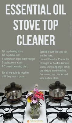 Essential oil stove top cleaner