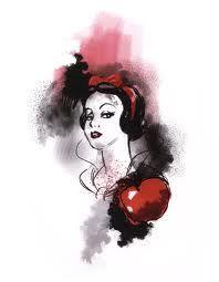 Watercolor Snow White tattoo idea