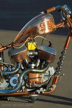 Brass Crazy Horse Harley Davidson WL chopper