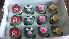 Farm birthday cupcakes (2013)