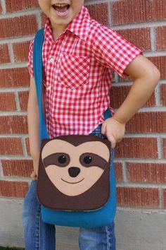 Messenger Bag Sloth Small Wool Bag Kids Purse by SavageSeeds, $45.00