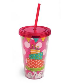 Take a look at this Birthday Cake 17-Oz. Insulated Tumbler by Cypress Home on #zulily today!