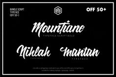 Bundle Script Typeface (off 50+) by ADIL BUDIANTO on @creativemarket