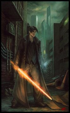 Urban fantasy-fire+ice by StandAlone-Complex at deviantART