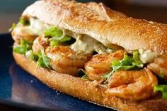 Spicy shrimp sandwich