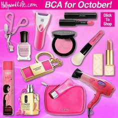 October is Breast Cancer Awareness Month. Find out which beauty brands are supporting the cause!