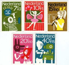 Stamps - NETHERLANDS Child welfare