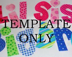 Free Applique Letter Templates | Downloadable Alphabet Letter Patterns for crafts, applique