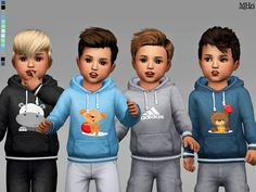 hoodies for male toddlers. With cute appliques and adidas logos. Found in TSR Category 'Sims 4 Male Toddler'-cute hoodies for male toddlers. With cute appliques and adidas logos. Found in TSR Category 'Sims 4 Male Toddler' Toddler Cc Sims 4, Sims 4 Toddler Clothes, Toddler Sports, Sims 4 Cc Kids Clothing, Toddler Boy Outfits, Toddler Hair, Toddler Boys, Kids Boys, Kids Outfits