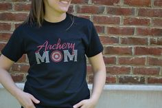 Archery Mom Bling Rhinestone Shirt. Show your pride for your favorite NASP or JOAD Archer. Find this tshirt only at www.ArcherySquad.com - $24.99