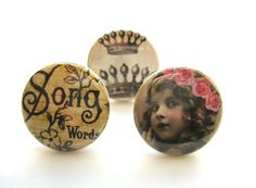 vintage images on buttons