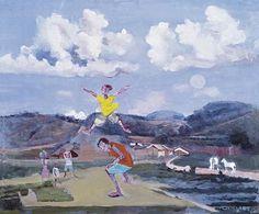 Meninos pulando carniça, 1959 Cândido Portinari (Brasil, 1903-1962) óleo sobre…