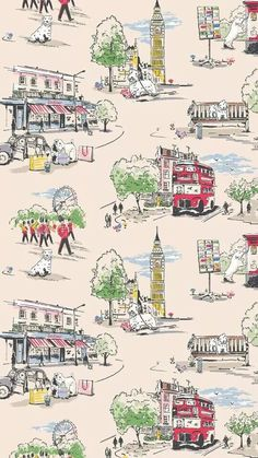 Billie Goes to Town * Cath Kidston Cath Kidston Shop, Cath Kidston London, Cath Kidston Fabric, Wallpaper Iphone Cute, Cute Wallpapers, Fabric Patterns, Print Patterns, Cath Kidston Wallpaper, Whatsapp Wallpaper