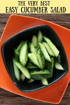 Easy Cucumber Salad recipe from RecipeGirl.com #easy #cucumber #salad #recipe #RecipeGirl Easy Chinese Recipes, Asian Recipes, Easy Recipes, Most Popular Recipes, Favorite Recipes, Asian Cucumber Salad, Recipe Girl, Pinterest Recipes, Chinese Food