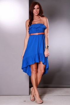 AMIClubwear premier ecommerce site for women's clubwear, party dresses, sexy shoes and bikinis at amazing prices. Sexy Party Dress, Sexy Dresses, Cute Dresses, Dress Outfits, Formal Dresses, Ruffle Trim, Clubwear, Strapless Dress Formal, High Low