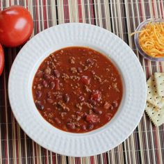 Healthy and Simple: Hot & Spicy High Protein Low Fat Turkey Chili Easy Soup Recipes, Chili Recipes, Real Food Recipes, Healthy Recipes, Fun Recipes, Family Recipes, Meal Recipes, Cooker Recipes, Cheap Family Meals