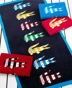 Lacoste Towels, Bayadere Beach Towel