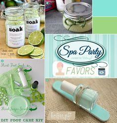 A Spa-Manicure Bridal Shower in Cool Mint + Lime! - Creative and Fun Wedding Ideas Made Simple Spa Party Foods, Spa Bachelorette Parties, Bridal Shower Favors Diy, Spa Manicure, Spa Night, Spa Birthday, Bridal Nails, Bridal Shoes, Diy Spa