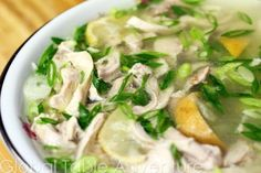 Cambodian Chicken and Pickled Lime soup is light and healthy, the broth contains considerable zestiness from the sliced pickled limes