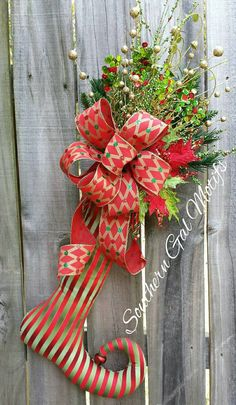 Elegant+Christmas+Stocking+Swag++Christmas+by+SouthernGalMotifs