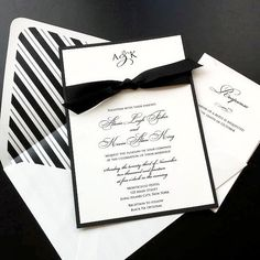 It doesnt get more classic and formal than a suit and tie! This Black Tie invitation set captures that elegant look that is a timeless theme for