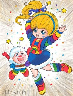 Rainbow Brite Coloring Page by Rainbow-Beanicorn on DeviantArt Classic Cartoon Characters, Favorite Cartoon Character, Classic Cartoons, Cool Cartoons, Love Rainbow, Rainbow Unicorn, Rainbow Colors, Rainbow Birthday Party, Rainbow Brite