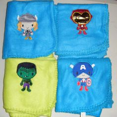 The Avengers 4 Baby Blanket Set Captain America Thor Ironman Hulk Marvel by 21CannonSalute, $25.00