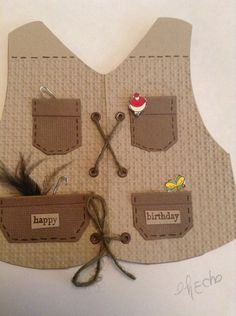 Fishing birthday card. Cricut- everyday paper dolls by Checha