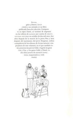 """PUERTÓLAS, Soledad. """"Perros, gatos y lémures: los escritores y sus animales"""". Madrid: Errata Naturae, 2011."""