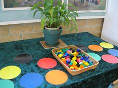 A sorting activity that simply asked students to sort in any way they wanted. Each child approached sorting the coloured objects differently. Take a look at what the teachers recorded through picture documentation from this one centre.