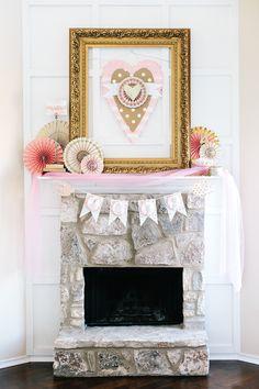 Handmade Mood   A Lovely Pink Mantel   http://handmademood.com