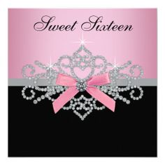 >>>Cheap Price Guarantee          White Diamonds Pink Black Sweet 16 Birthday Party Invitations           White Diamonds Pink Black Sweet 16 Birthday Party Invitations in each seller & make purchase online for cheap. Choose the best price and best promotion as you thing Secure Checkout you can...Cleck Hot Deals >>> http://www.zazzle.com/white_diamonds_pink_black_sweet_16_birthday_party_invitation-161633552853946752?rf=238627982471231924&zbar=1&tc=terrest