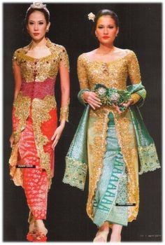 Gold Lace Kebaya with Songket