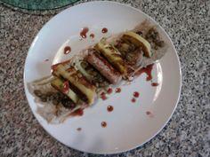 Salsiccia patate e cavolfiori''(crema e  ortaggio)'',lenticchie e salsa bordolese Gino D'Aquino
