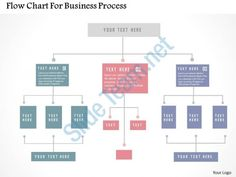 flow chart for business process flat powerpoint design Slide01