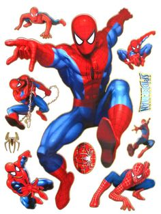 Free-shipping-Spiderman-wall-STICKERS-2designs-lot.jpg 1,000×1,327 pixels