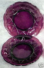 Purple Depression Glass | Purple AMETHYST Depression Glass NEWPORT Plates HAIRPIN Completed