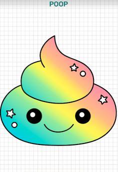 cute rainbow poop