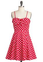 Getting Dot in Here Dress | Mod Retro Vintage Dresses | ModCloth.com @Teresa Raines Just like the one you're making for me