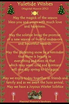 Sabbat Yule - Winter Solstice - wish blessing Pagan Christmas, Merry Christmas, Christmas Time, Christmas Ideas, Celebrating Christmas, Natural Christmas, Holiday Ideas, Yule Traditions, Winter Solstice Traditions