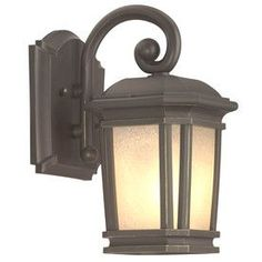 Portfolio Corrigan H Dark Brass Medium Base Outdoor Wall Light at Lowe's. Add a warm, glowing touch to your entranceway with this Portfolio outdoor wall light from the Corrigan collection. The dark brass-finished fixture with Wall Mounted Light, Outdoor Wall Lighting, Porch Lighting, Outdoor Walls, Exterior Lighting, Garage Lighting, Wall Lights, Dark Brass, Lights