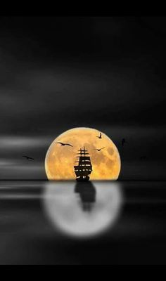 """""""Take me to Neverland"""" Beautiful Moon, Beautiful Moments, Paintings I Love, Science And Nature, Pretty Pictures, Color Splash, Street Art, The Incredibles, Sky"""